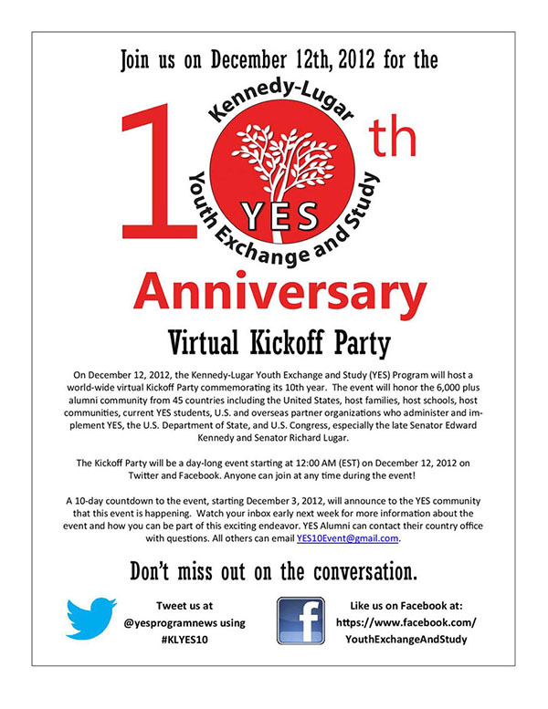 YES Anniversary Flyer