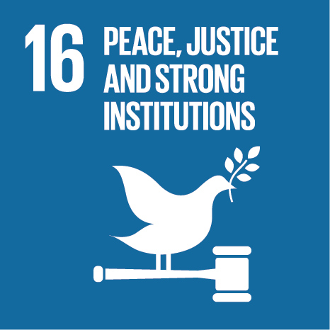 The sixteenth UN Sustainable Development Goal: Peace, Justice & Strong Institutions
